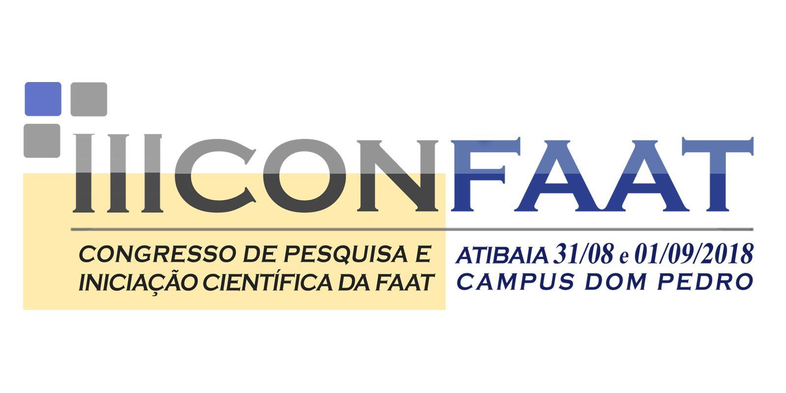 Estão abertas as inscrições para o III Congresso de Pesquisa e Iniciação Científica da FAAT