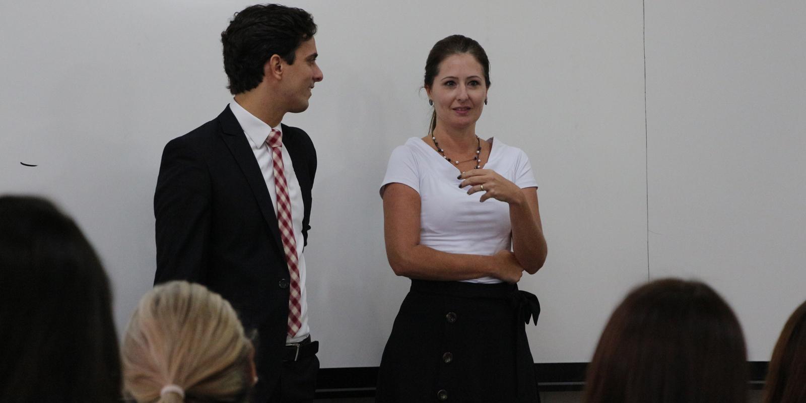 Dr. Ygor Ramos Cunha Pinheiro ministra palestra para alunos de Direito