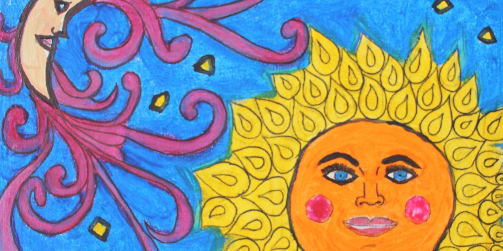 Pinturas e relatos dos alunos do Centro de Ressocialização de Atibaia estão em exposição na Biblioteca