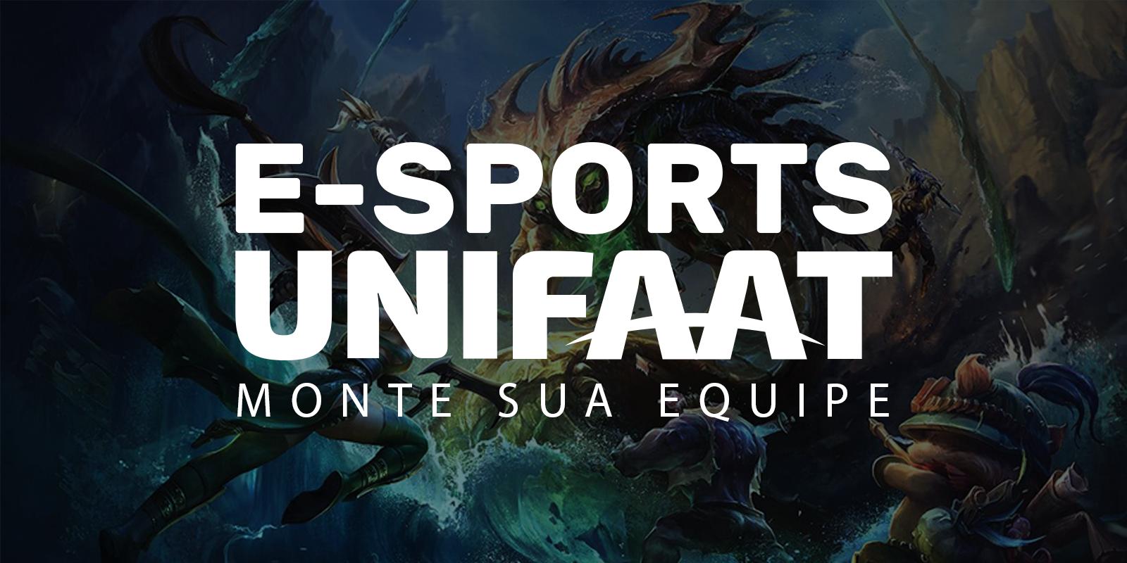 Estão abertas as inscrições para o E-Sports UNIFAAT