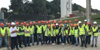 Alunos de Engenharia Civil visitam a empresa Leonardi