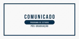 PROGRAMA DE ESTUDOS - PÓS-GRADUAÇÃO
