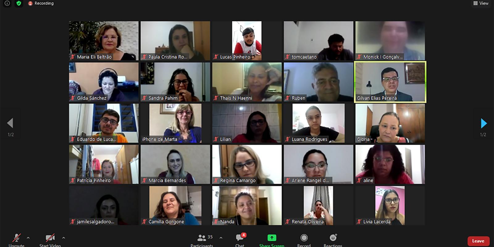 Cerimônia por videoconferência marca abertura do programa Residência Pedagógica