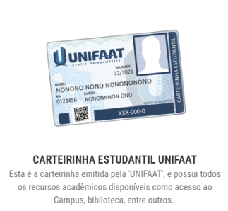 UNIFAAT disponibiliza nova carteirinha estudantil