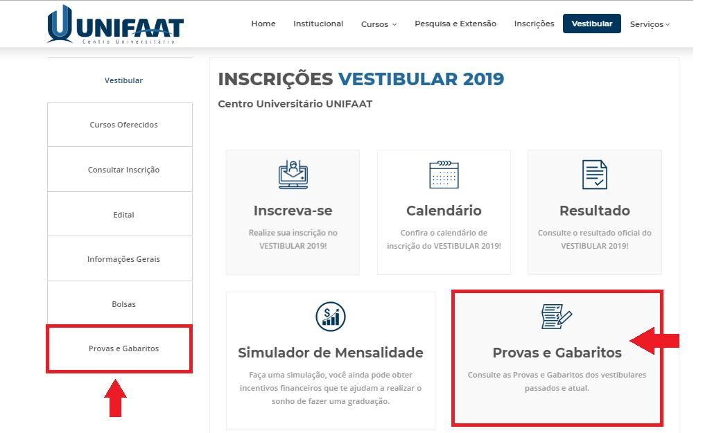 Confira o gabarito do Vestibular 2019