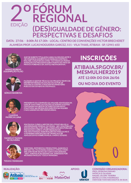 """""""(Des) Igualdade de Gênero: Desafios e Perspectivas"""" é tema do 2º Fórum Regional"""