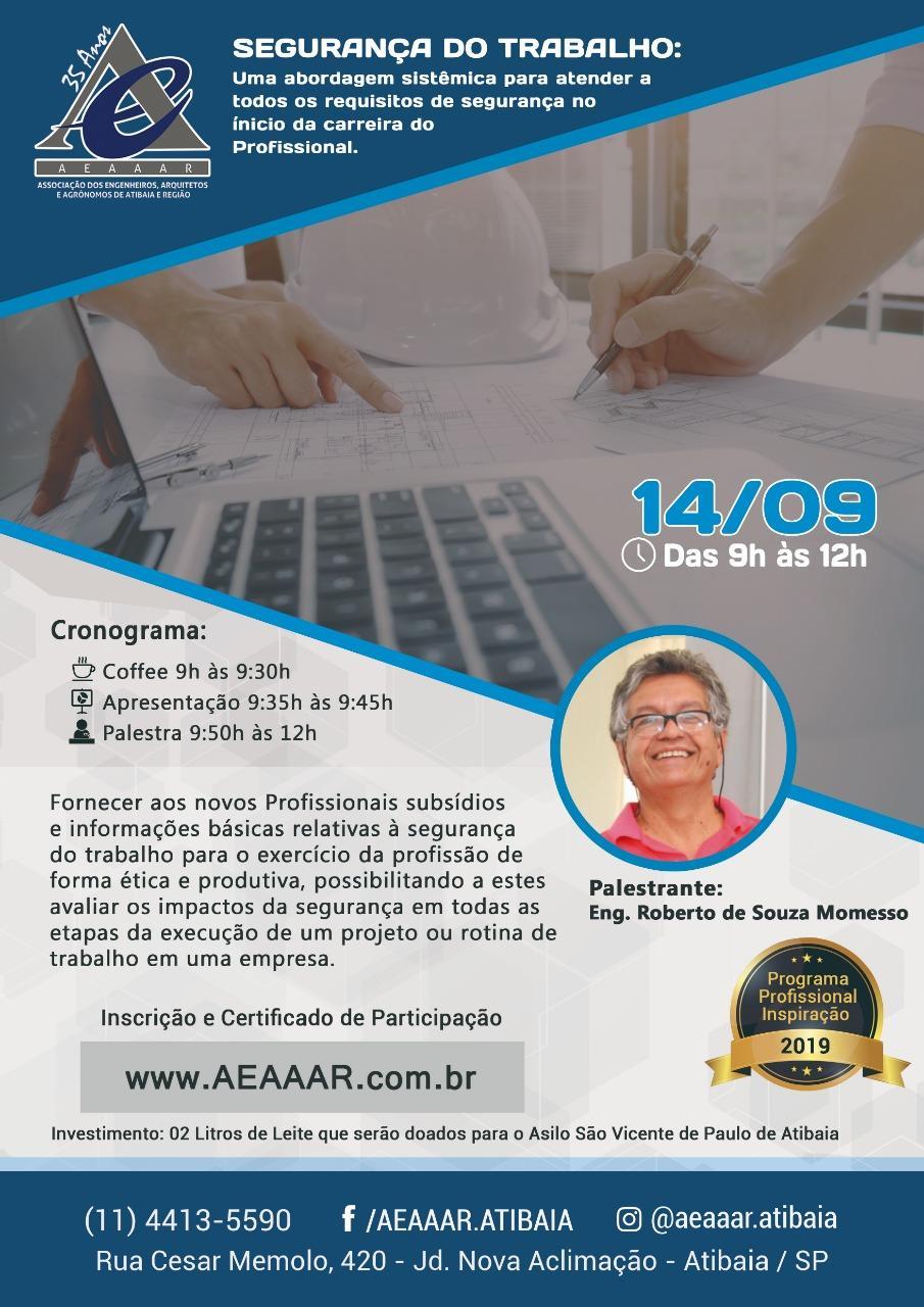 AEAAAR promove palestra sobre Segurança do Trabalho